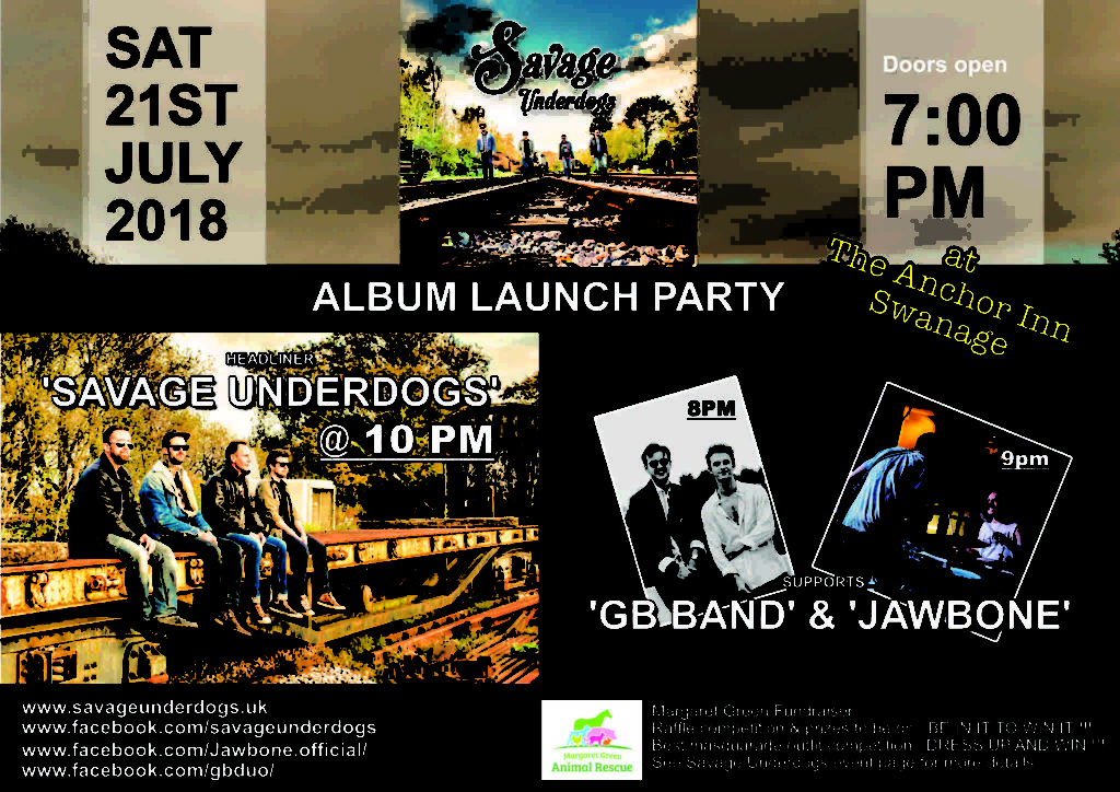 Savage Underdogs album launch party poster.